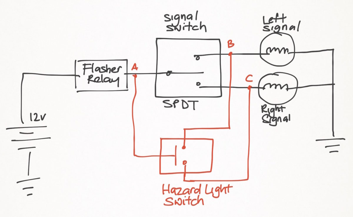 weekend 200ns hazard light project – ramblings of a ... hid wiring diagram for motorcycle