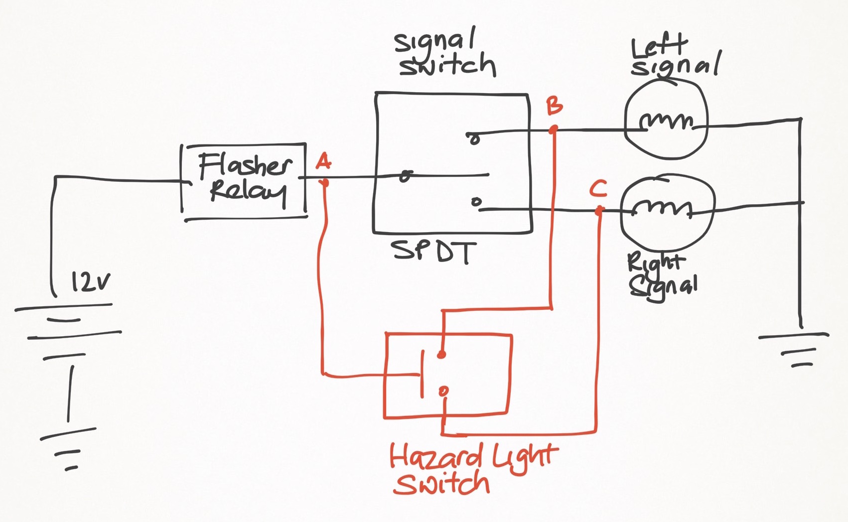 Wiring Diagram For Four Way Switch : Weekend ns hazard light project ramblings of a