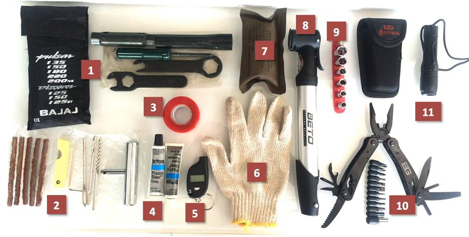 Constructing a Motorcycle Emergency Road Trip Kit