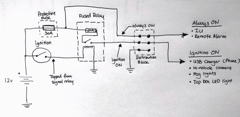 200NS 12V Wiring Plan