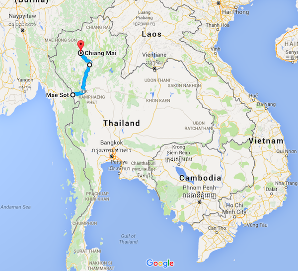 Day 6 - Mae Sot to Chiang Mai. 360km