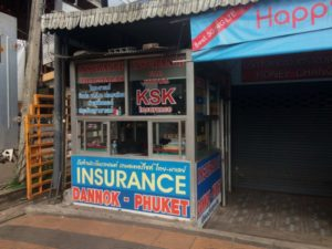 The Thai insurance hut just after crossing the Sadao border where I got scammed.