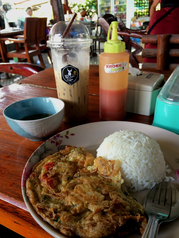 Stopped for lunch along the way. Crab meat omelette rice and a tall glass of iced coffee. This was probably the best iced coffee I ever had!