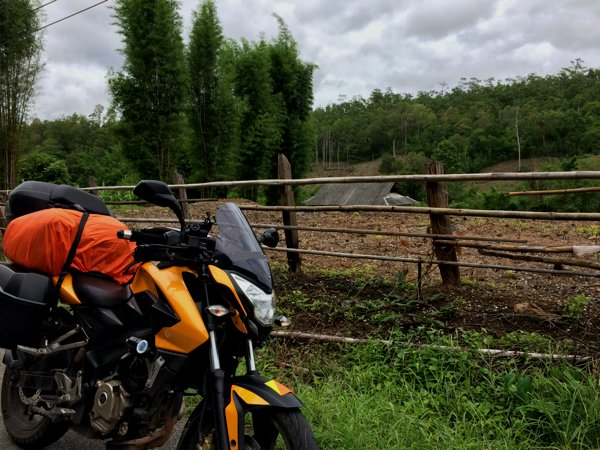 The Pulsar 200NS countryside shot.