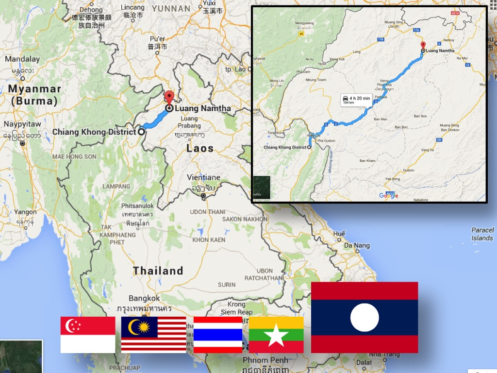 Laos - the 5th country on sgBikerBoy's 2016 trip!