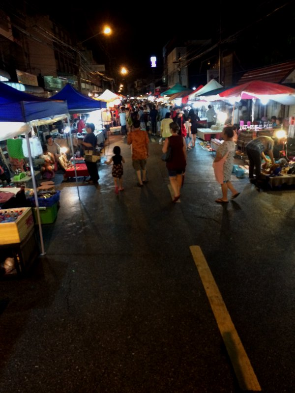 The Saturday Night Market was smaller than the Sunday one. After some time, all night markets began to look the same.