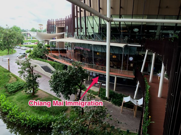 The Chiang Mai Immigration for tourist visa extension is located on the ground floor of Block A.