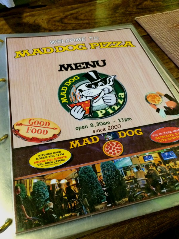 ...and I found Mad Dog Pizza!