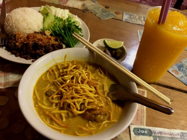 The warm bowl of Khao Soi was especially welcoming after all the rain that I've braved today.