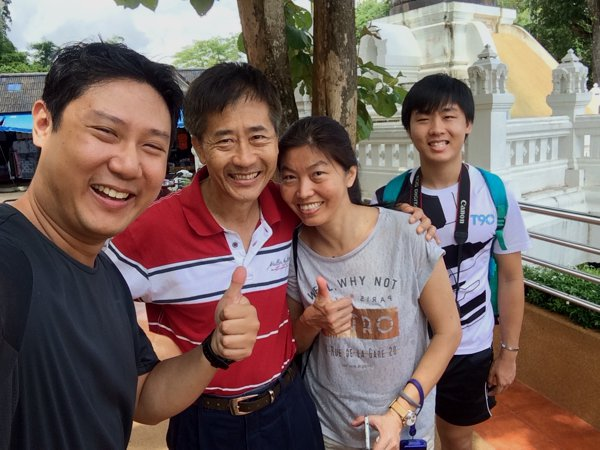 The Ngo family from Kuala Lumpur, Malaysia.