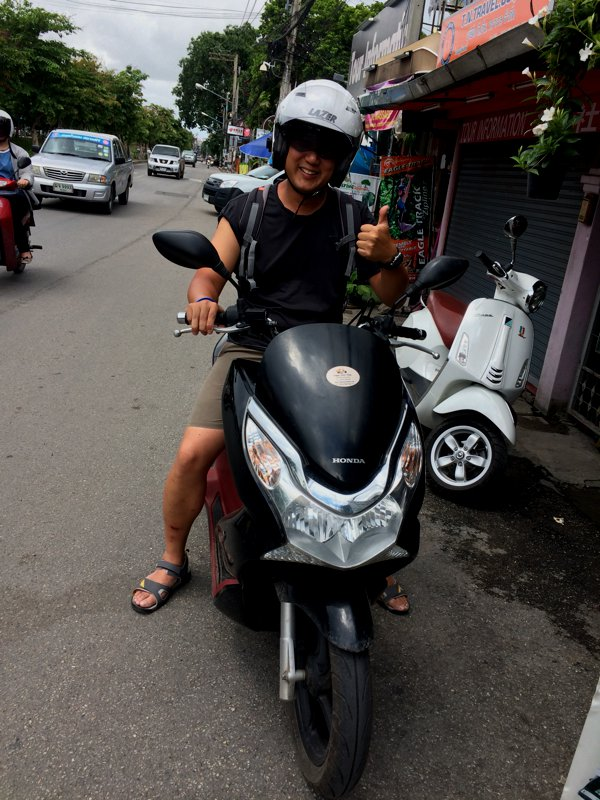 Before I could pick up my Pulsar, I had to return the PCX. Well, at least we had some good times in Chiang Rai together.