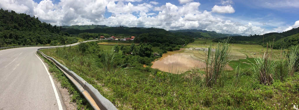 The scenic view of northern Loas.