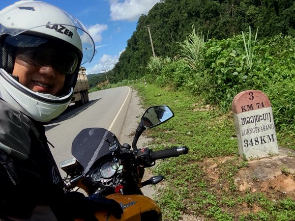 Informational tombstones in Laos telling you how far you are away from some major towns or cities. Nope - no informational signboards that I was so used to seeing in Singapore, Malaysia, Thailand, and practically everywhere else in the world.