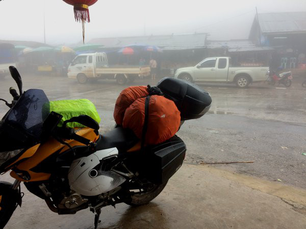 At 1,369m (4,491ft) above sea level. That's rain AND fog. And some very slippery roads.