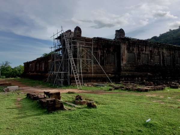 Part of Vat Phou undergoing reconstruction / restoration works.