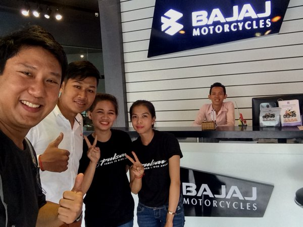 The Bajaj sales team