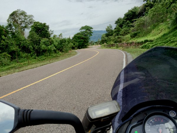 Beautiful roads up to Bokor Mountain.