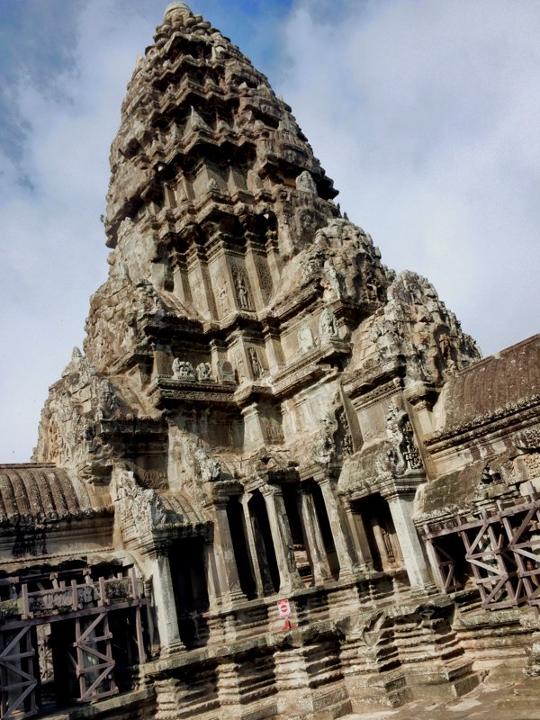One of the towers in Angkor Wat.