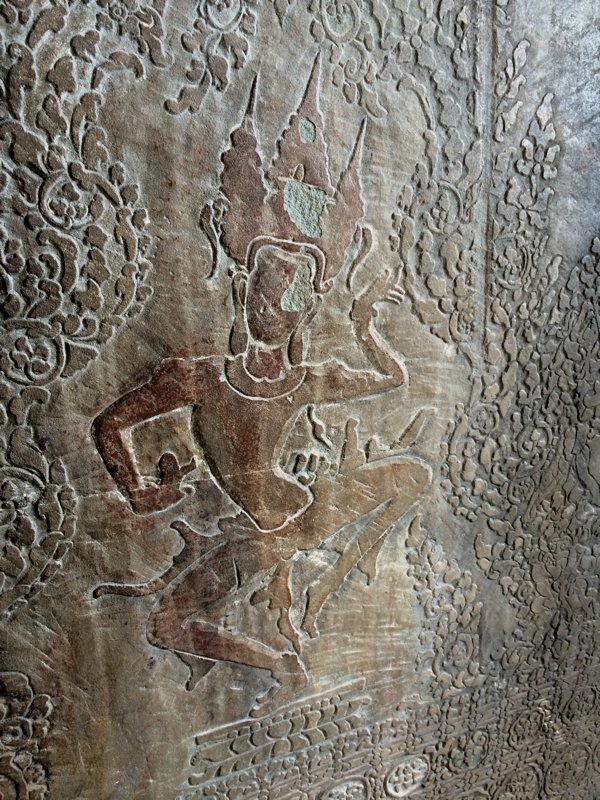 Decorations like this fill the walls of Angkor Wat. Even with modern day laser printers, it would take a considerable amount of time to cover all the walls of Angkor Wat. I cannot imagine the amount of human labour expanded back in those days to achieve these results.