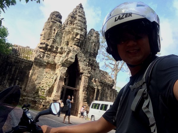 Me and some Angkor structure along the way.