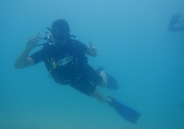 That's me in a super-happy dive pose.