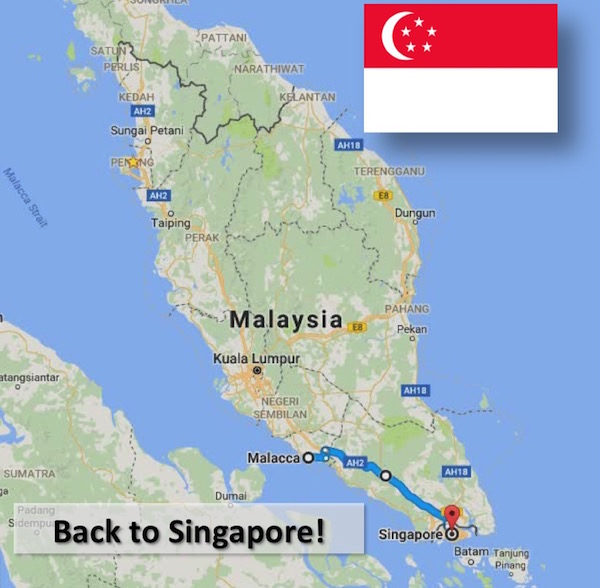 Day 49 - Malacca to Singapore! Homecoming!