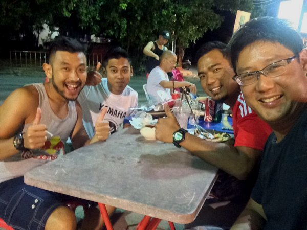 Meet Zairul, Fariz and Ariff who rode their big bikes up from Singapore!