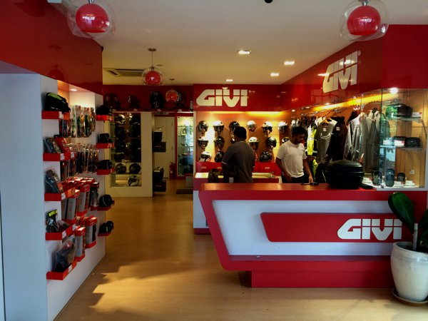 The Givi shop in Georgetown, Penang.