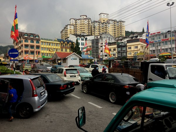 The town in Cameron Highlands.
