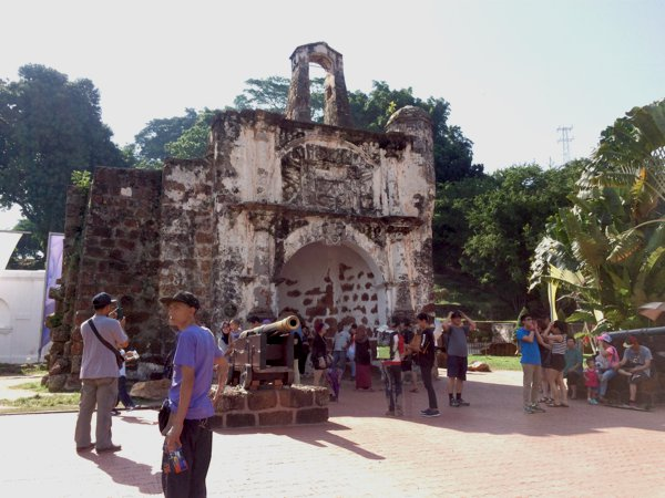 A Famosa in Malacca - the remains of the Portuguese fort in Malacca.