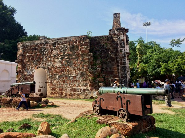 A Famosa fort. The canons don't look original to me. Probably replica props to give the area a little more realism.