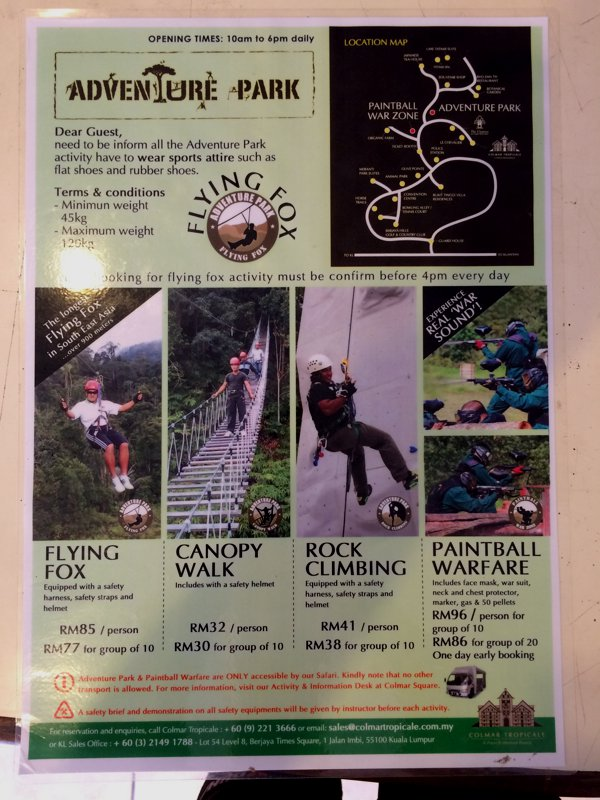 Some of the activities you can do in the area.
