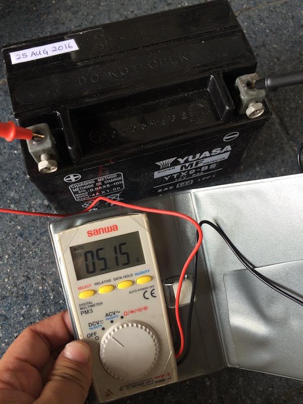 5.15V on the battery.