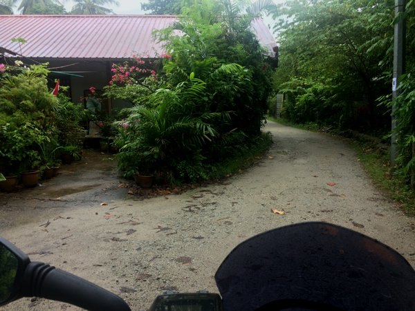 The dirt road leading into Kampong Lorong Buangkok.
