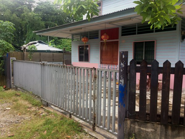 One of the more modern houses in Kampong Lorong Buangkok.