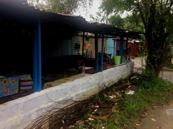 Kampong-style makan (eating) area.