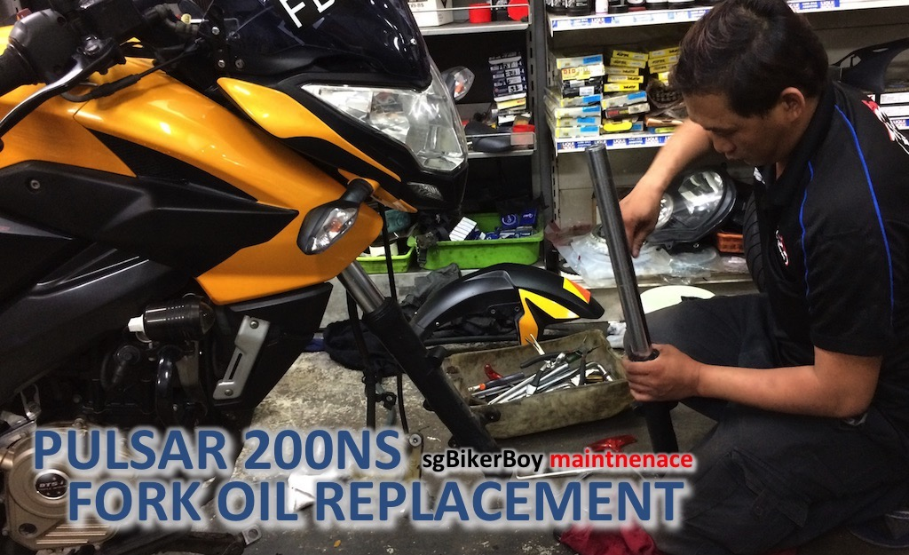 Pulsar 200NS Fork Oil Change