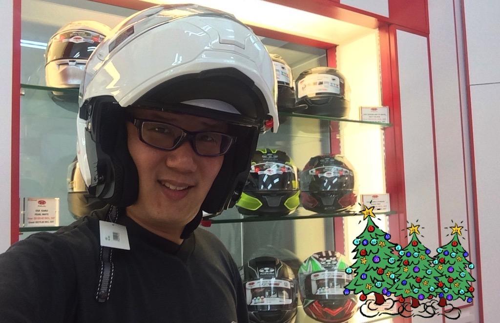 My Early Christmas Present – Kabuto Ibuki Flip-up Helmet