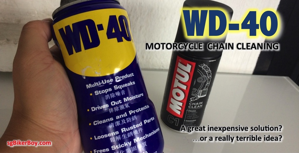 WD-40 as a motorcycle chain cleaner