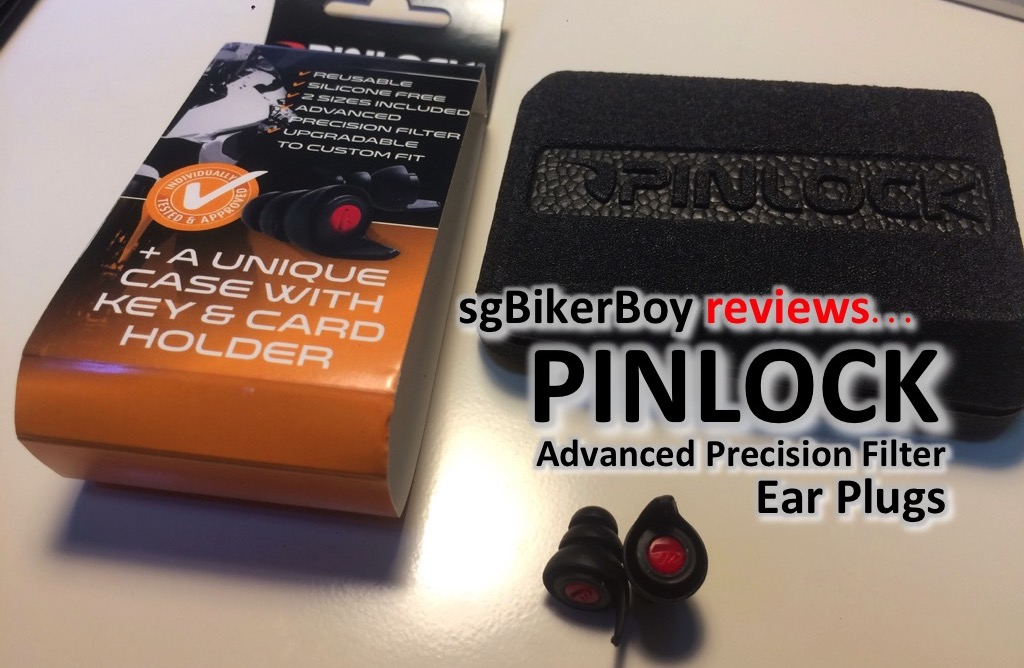 sgBikerBoy Reviews Pinlock Ear Plugs