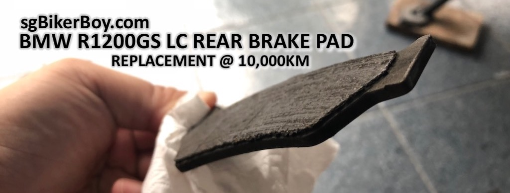 R1200GS LC Rear Brake Pads Replacement @ 10,000km