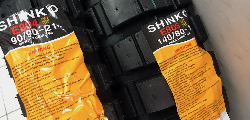 New Shoes for the G650GS Sertao – Shinko 804/805 Off-Road Biased Tires
