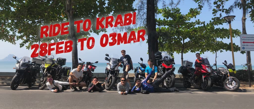 4D4N Group Ride to Krabi