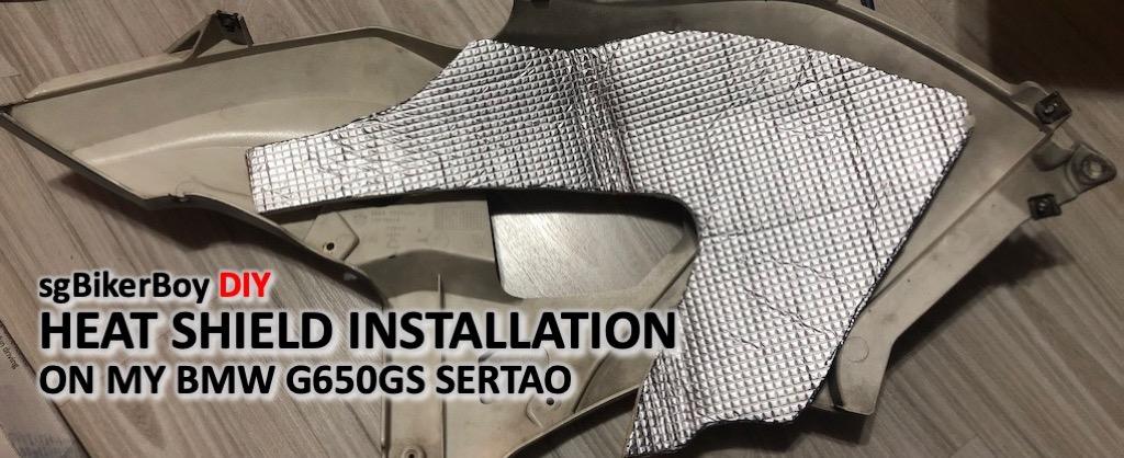 DIY Heat Shield on the BMW G650GS Sertao