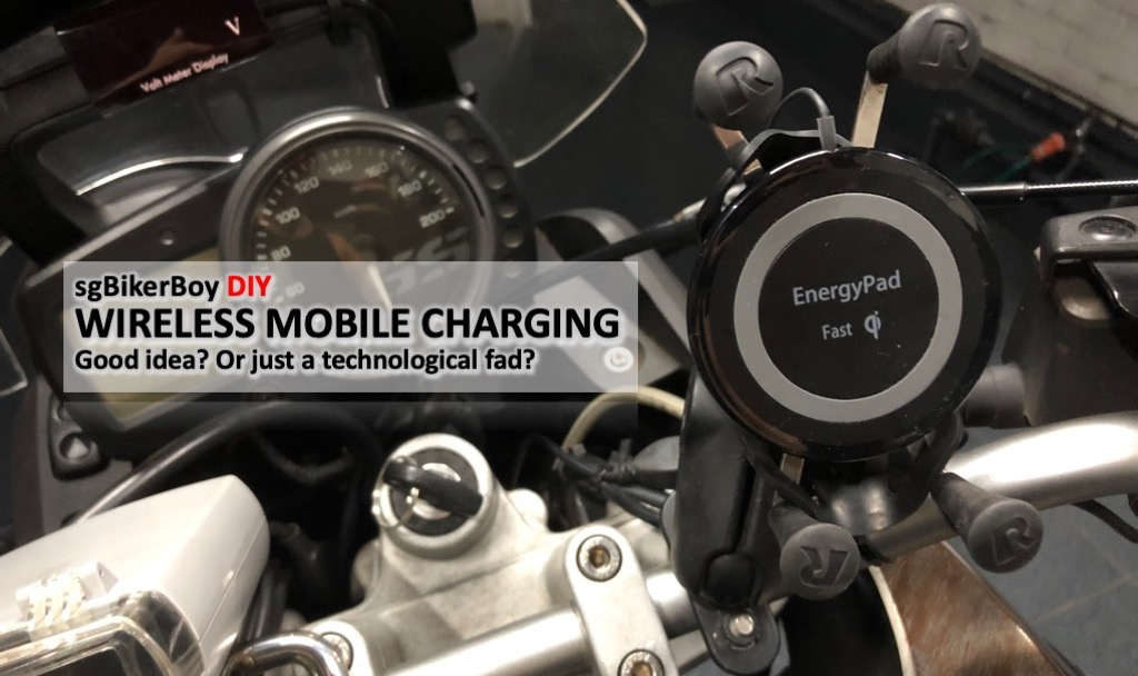Motorcycle Wireless Qi Mobile Charging