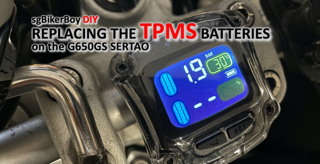G650GS Sertao TPMS Battery Replacement